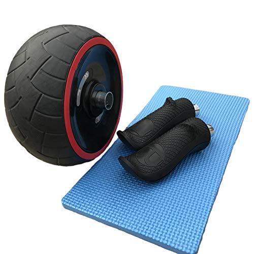 Dent AB Roller Bauchtrainer Fitnessset für Bauchtraining zu Hause und in Fitnesstudios mit Kniematte Bauchmuskeltraining und Muskelaufbau für Frauen und Männer