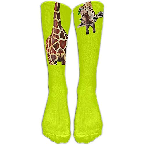 NA DaSOC Funny Giraffe Long Neck Unisex nieuw onder kniekousen Athletic tube kousen maat 6-10