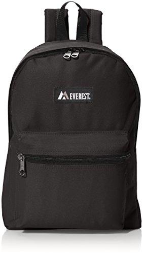 Everest Luggage Basic Backpack  Black  Medium