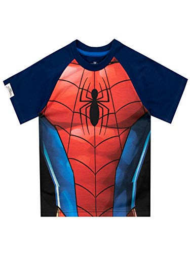 Marvel - T-Shirt - Spiderman - Garçon - Multicolore - 4-5 Ans
