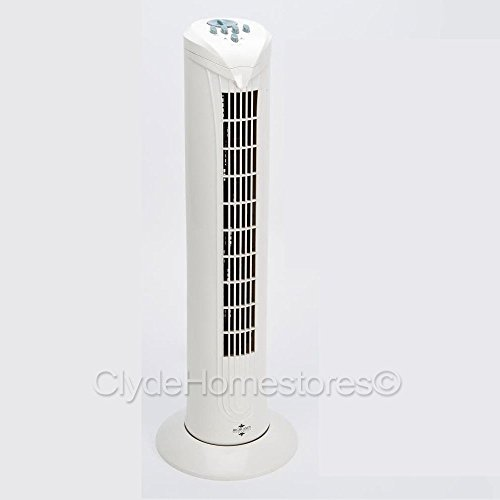 Highlands OSCILLATING TOWER FAN HOME OFFICE COOLING FREESTANDING NEW IN BOX COOL AIR ,32 inch