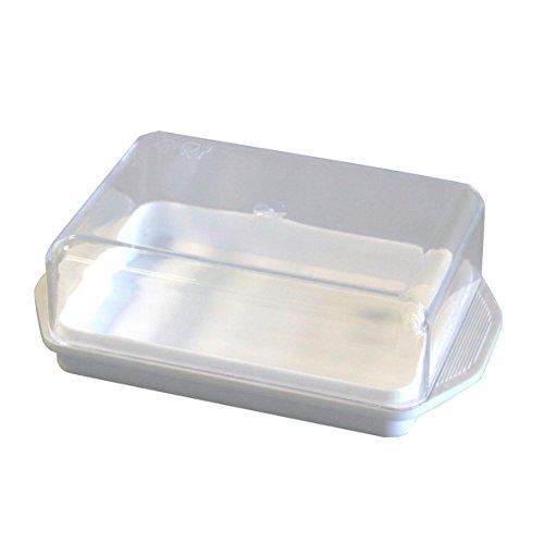Kühlschrank-Butterdose weiss, Deckel transparent