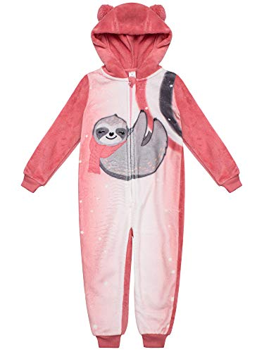 Petit Lem Girl Pyjama Onesie Knit, 404 Coral, 4