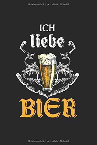 Ich Liebe Bier: Gepunktetes A5 Notizbuch oder Heft für Schüler, Studenten und Erwachsene (Logos und Designs, Band 3690)