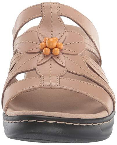 Clarks Women's Lexi Myrtle 2 Sandal, Sand Leather, 95 W US Maryland