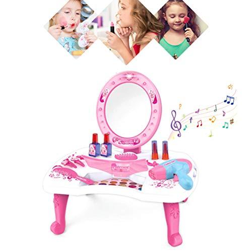 FuYouTa Conjunto de Juegos de Maquillaje para Juegos de rol Conjunto de Trucos para Juegos de rol. Juego de rol de Juguete de tocador Juego de rol de niña Juego de Juegos cosméticos para niños