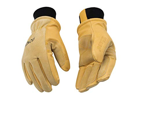 Kinco Lined Heavy Duty Premium Grain & Suede Pigskin Driver with Knit Wrist