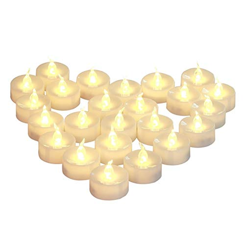 Candle Lights Pack of 12 Timer Or Not Timer Flameless Candles, Battery Powered Christmas Candles, Amber Warm White Led Candle Light (Color : Warm White not Timer)