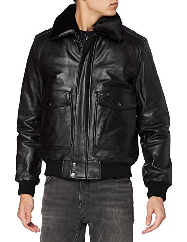 Schott NYC Herren LC5331X Jacke, Schwarz (Anthic Black 90), Medium