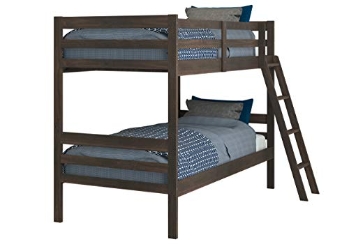 Donco Kids Economy Bunk Bed, Twin/Twin, Rustic Mocha Walnut
