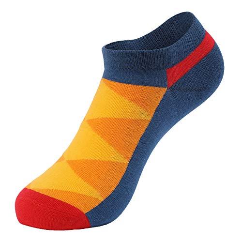 Marijee - Calcetines de algodón con diseño de calcetín suave, calcetines deportivos cortos de algodón, calcetines bajos clásicos, calcetines de yoga antideslizantes para hombre y mujer (naranja)