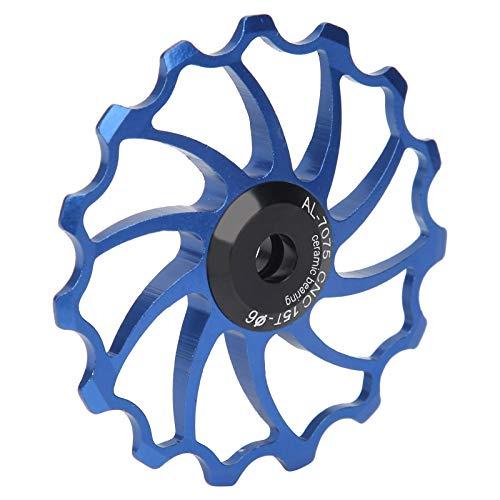 Polea de cambio trasero, rodamientos de cerámica Polea de cambio trasero de bicicleta Aleación de aluminio para bicicletas(blue)