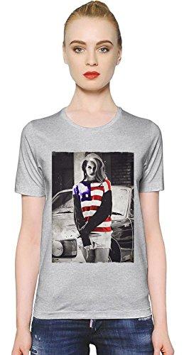 Lana Del Rey America Flag Womens T-shirt Small