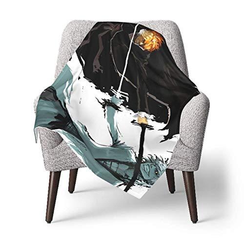 XCNGG Mantas para bebes mantas comodas para bebes Anime Game Bleach Kurosaki Ichigo Baby Blanket Throw Blankets Fuzzy Blanket,for Boys, Girls, Kids, Toddler, Infant -Warm Cozy Plush Blanket Double Lay