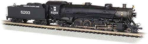 Bachmann Trains 4-8-2 Light Mountain Dcc Sound Value Equiped Steam Locomotive Missouri Pacific #5203 - N Scale, Prototypical Black