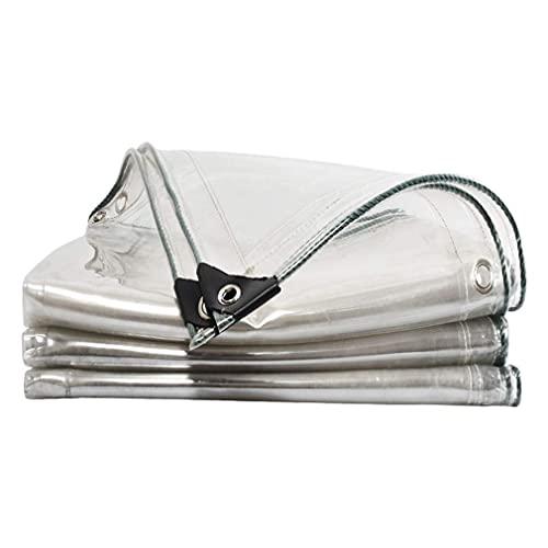 SJQ Lona Impermeable Resistente, PVC de 0,3 mm, Borde Perforado de Vidrio Suave, Tela Transparente para cobertizo, Resistente a la Lluvia, Resistente, Resistente, Impermeable, para jardín al Air