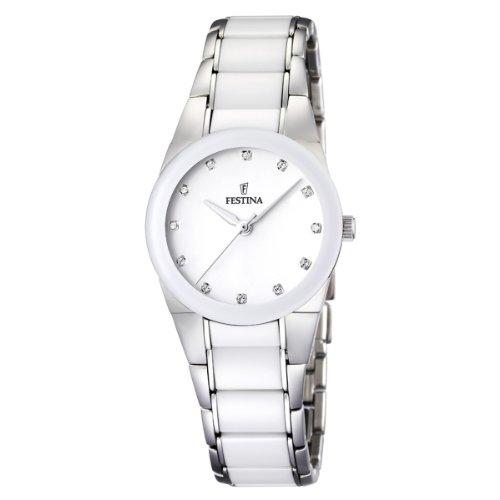 Festina Damen Analog Quarz Uhr mit Verschiedene Materialien Armband F16534/3