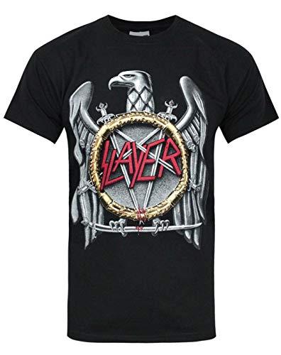 Rock Off - T-shirt Homme Slayer Silver Eagle - Noir (Black) - X-Large