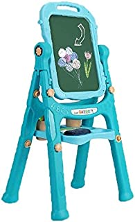 XWJ XWJ Baby Drawing Bracket Type Children's Easel, Double-Sided Adjustable Art Easel, Blackboard and Magnetic Dry Eraser with Accessories for Children's Art Supplies, Children's Birthday Gift