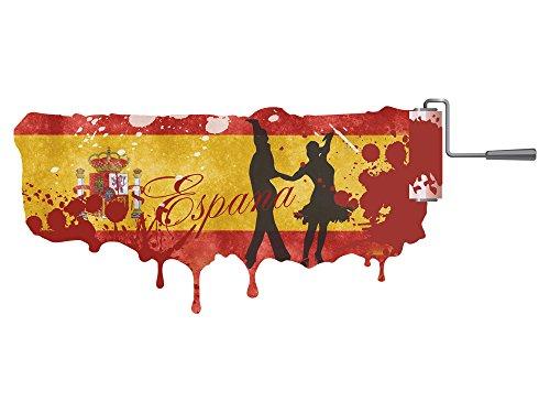 GRAZDesign Wandsticker Espana - Fototapete Tänzer - Wandtattoo Flagge / 139x57cm / 721196_57