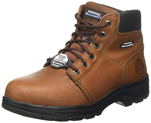 Skechers Men's WORKSHIRE Classic Boots, Brown (Brown Embossed Leather Brn), 9.5 (44 EU)