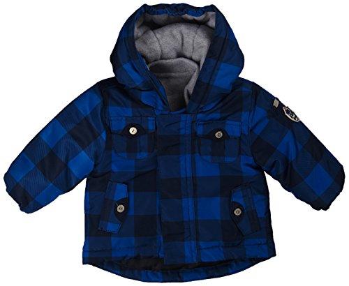 Kanz Baby-Jungen Anorak mit Kapuze 1/1 Arm Jacke, Blau (y/d Check Multicolored 0002), (Herstellergröße: 68)
