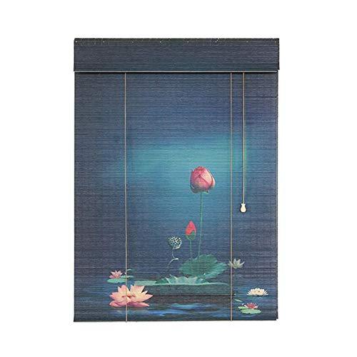 Estores Enrollables Persiana Enrollable De Bambú con Diseños, Parasol Filtrante De Luz De Estilo Japonés, para Jardín, Patio, Gazebo, Puerta De Ventanas (Size : 100×260cm)