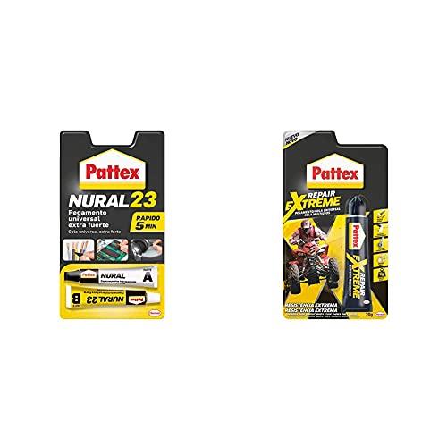 Pattex Nural 23 Pegamento Universal Extra Fuerte, Adhesivo Extrafuerte Para Múltiples Materiales+ Repair Extreme, Pegamento Multiusos Que No Contrae, Pegamento Resistente A Las Vibraciones