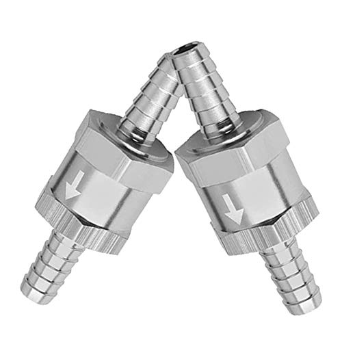 Gasea 2pcs 10mm Válvula Retención Combustible, Válvula Antirretorno de Retorno de Combustible, Válvula Retención Aluminio aleación para Gasolina Diesel Válvula de Retencion de Combustible de Aire