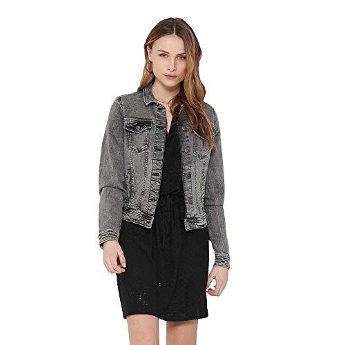 ONLY NOS Womens 15205785 Jacket, Grey Denim, 44