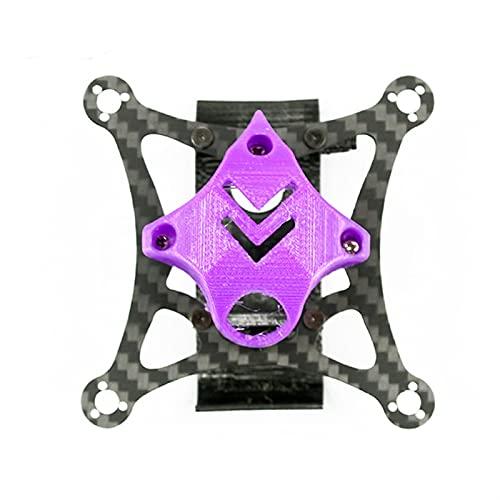 DingPeng Kit Telaio in Fibra di Carbonio da 85 mm da Denti da 2 Pollici con Supporto Batteria Stampato 3D FPV Racing Drone Quadcopter Accessori Ricambi (Color : Purple)