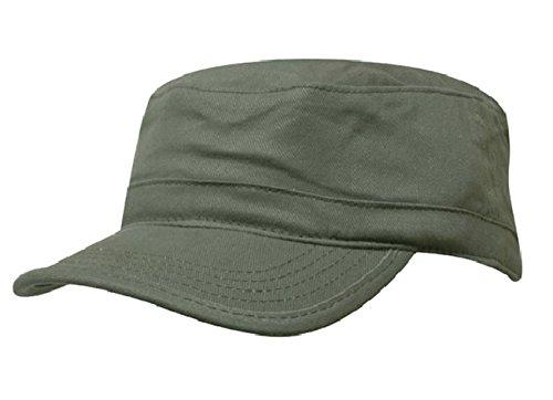 Unisex Mütze Army Destroyed Cap Fidel Castro Kuba Style Fullcap im Military Cadet Camouflage (Green)