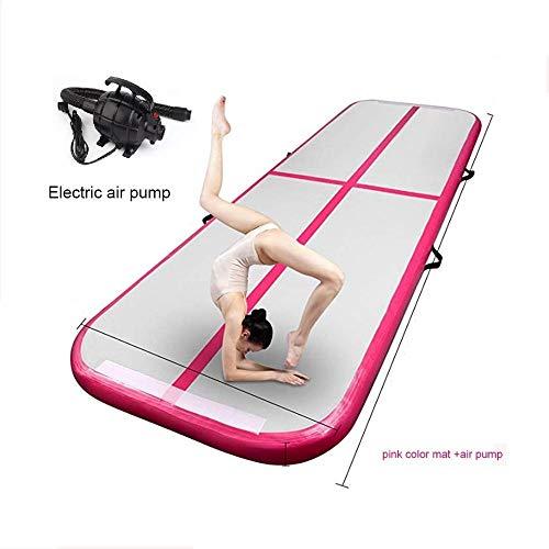 Aufblasbare Airtrack Gymnastikmatratze Yogamatte 3M/4M/5M/6M/7M/8M/9M/10M Gymnastik Tumbling Matte Air Tumbling Track Air Floor Mat, rot, 300*100*10cm