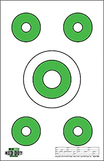 Red Dot Optics Style 8: Five Targets per Sheet by EZ2C Targets | Paper Targets | High Visibility Firearms and Rifles Targets 11