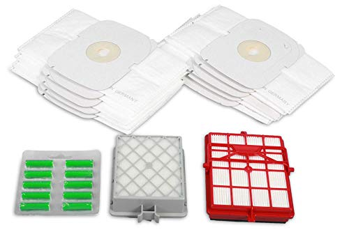 Hossi's Wholsale - Lote de 15 bolsas para aspiradora con filtro Hepa y filtro Hepa de carbono para Lux Intelligence