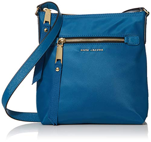 Marc Jacobs Damen Trooper North South Crossbody Umhängetasche, Blauer Montag, Small