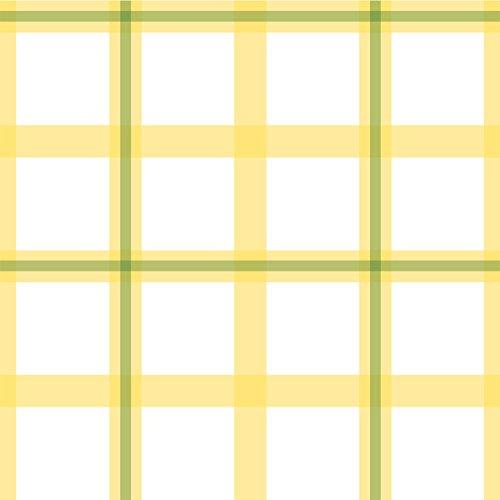Gelbe moderne Karo Tapete mit Über Karo in grün - Vlies Tapete Streifen Karo - Klassische Wanddeko - GMM Design Tapete - Wandtapete - Wand Dekoration für edle Wohnakzente (Höhe 3m Breite 46,5cm)