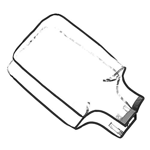 Amosfun Cubierta protectora para equipaje de 24 pulgadas, transparente, PVC, impermeable, para equipaje