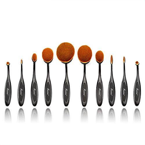 Kingstar 10 pcs Makeup Brush Cosmetic Foundation Toothbrush Cream Powder Blush Makeup Brushes Set by Messon
