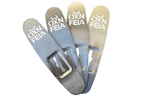 Oxnfeia® Feuerzangen 4 Stück Zuckerzange Zuckerhut Feuerzangenbowle Weihnachtszeit Winterzeit Weihnachtsmarkt Glühwein