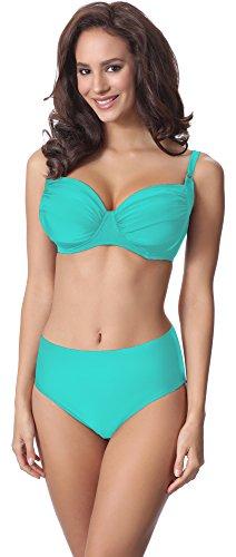 Merry Style Damen Bikini Set P61472W (Türkis, Cup 95 B/Unterteil 46)