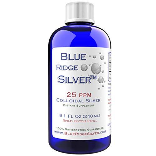 Blue Ridge Silver 25 ppm 8 oz Colloidal Silver Natural Immune Support Health Supplement