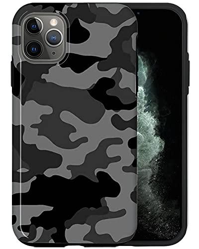 JUSPHY - Funda para iPhone 12 Pro, diseño de camuflaje negro PIN883