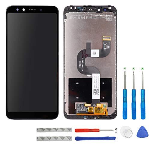 Swark - Pantalla LCD compatible con Xiaomi Mi A2/Mi 6X M1804D2SG, M1804D2SI (negro con marco), pantalla táctil, digitalizador y herramientas