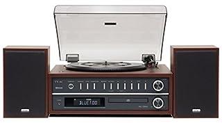 Bluetooth - Giradischi 33, 45 e 78 - USB & CD - MP3 / WMA - AM / FM RDS; BO11- 2 altoparlanti - ingresso Aux, uscita per cuffie - Sveglia e timer Garanzia del produttore: 2 anni (s) Tipo di file riconosciuti: MP3 radio Connettività: Bluetooth, USB