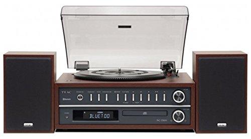 Teac MC-D800(CH) Plattenspieler-CD-Player Kombisystem (Schallplattenspieler, Riemenantrieb, drei Drehgeschwindigkeiten (33/45/78rpm), Bassreflex Lautsprecher, Bluetooth, USB, Radio), Kirschbraun