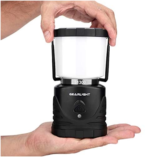 GearLight LED Camping Lantern S1300 - Up to 72 Hours Battery Powered Light - Best Outdoor, Camp, Tent, Hurricane, and… 5
