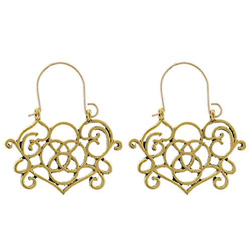 Ruby569y - Pendientes de aro para mujer, diseño geométrico, estilo bohemio, para mujer, joyería de moda, accesorio de regalo – 9022, dorado