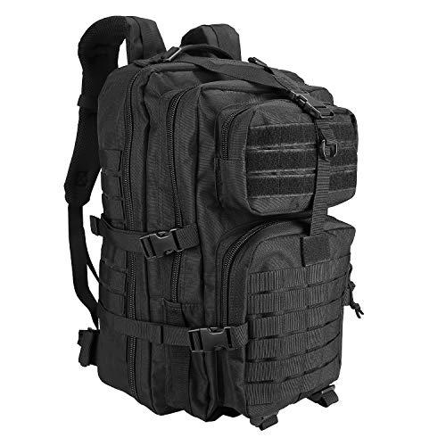 ProCase Zaino Tattico Militare, 42L Assault Backpack Grande Capacità Zaini 3 Day Dell esercito Zaino per Caccia, Trekking e Campeggio e Altre Attività All aperto -Nero