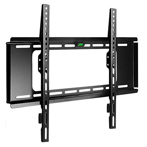Soporte tv suelo Montaje de TV fijado para un soporte de pared de pantalla LCD LCD de 40-80 pulgadas hasta VESA 400x600mm y capacidad de carga de 165.3 lbs, perfil bajo y ahorro de espacio Soporte tv